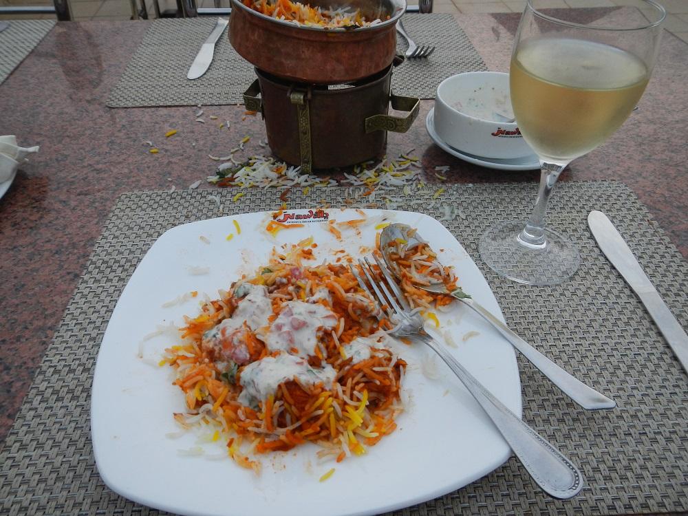 Wonderful Indian restaurant!!!! Amazing wine!!! Yes, I made that mess!